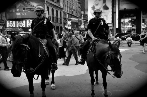 2 cops on horses