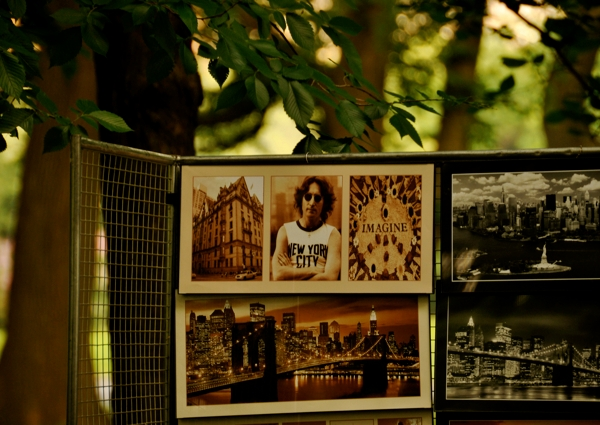 a picture of John Lennon from a street vendor