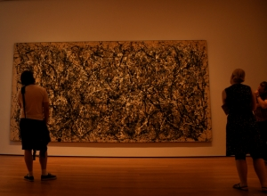 Pollock painting in MOMA