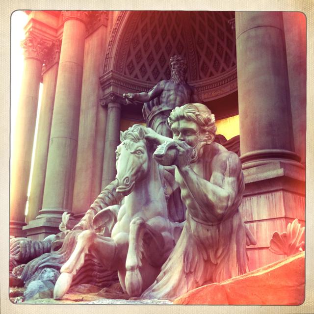 a Triton guiding a seahorse, Trevi fountain