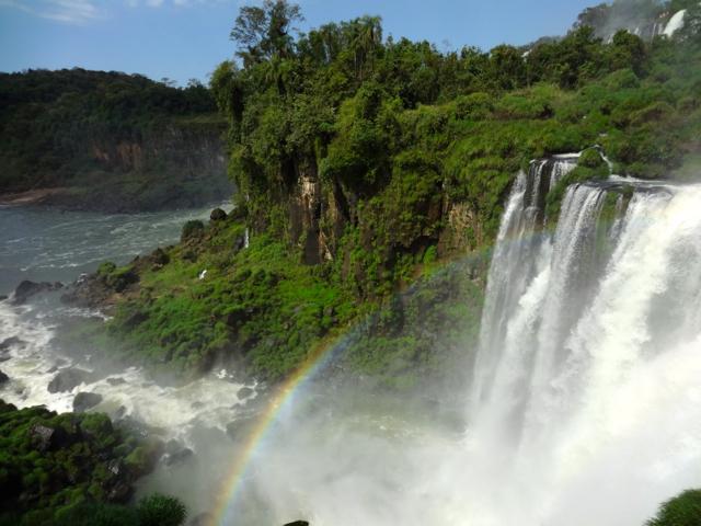 falls and rainbow