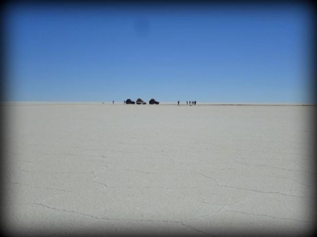 3cars and salt flats