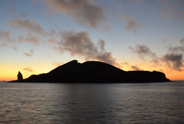 Bartolome Island at dawn (I was up because I was sea sick all night)