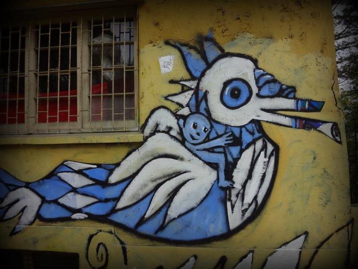 blue graffitti