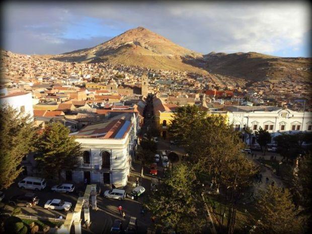 Cerro Rico and the town of Potosí