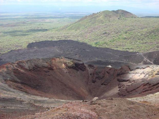 one of the craters of Cerro Negro
