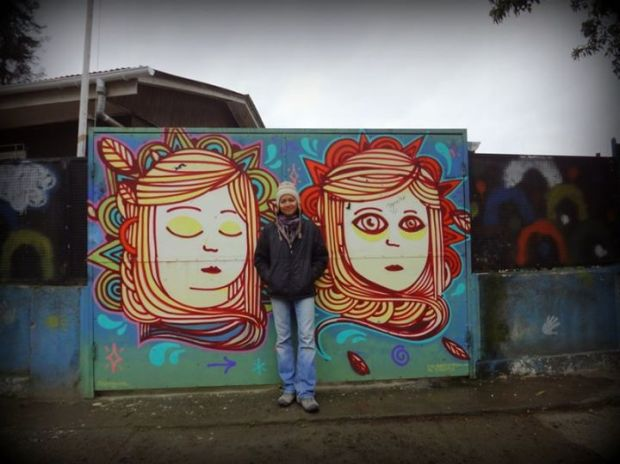 grafitti two faces