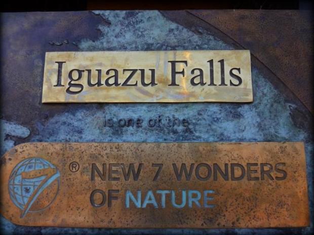 iguazu falls sign