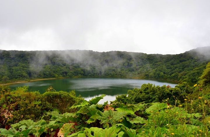 Lake Botos, an inactive crater within Poas Volcano Park