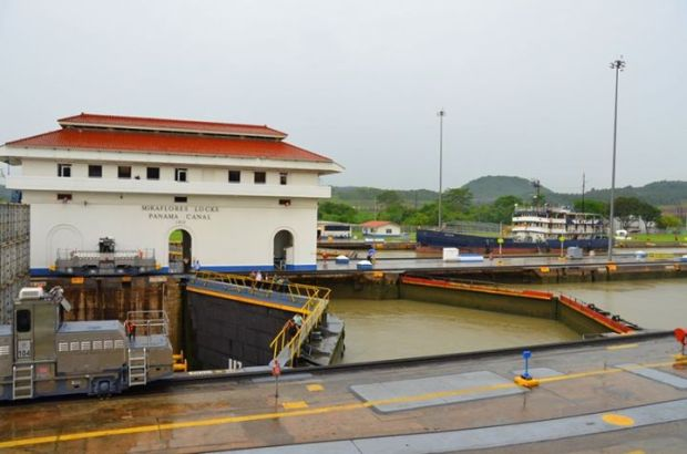 The Miraflores Locks closed and filled back up with water.