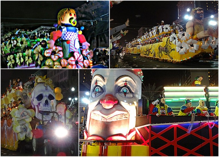 collage of floats