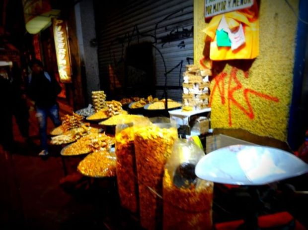 Nuts vendors are ubiquitous in the city