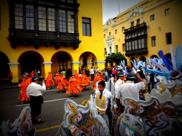 parade in Old Town, Lima