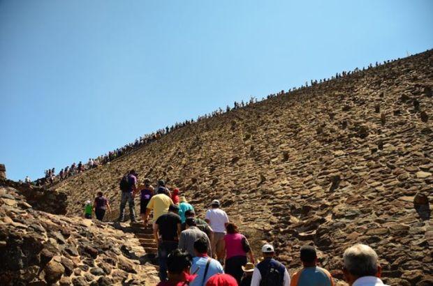 people climbing