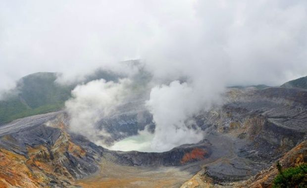 crater of Poas Volcano.