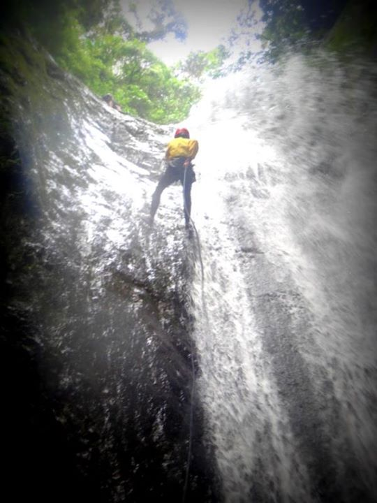3rd and highest waterfall. While on top I looked down and cursed myself, it was so steep I couldn't see the bottom.