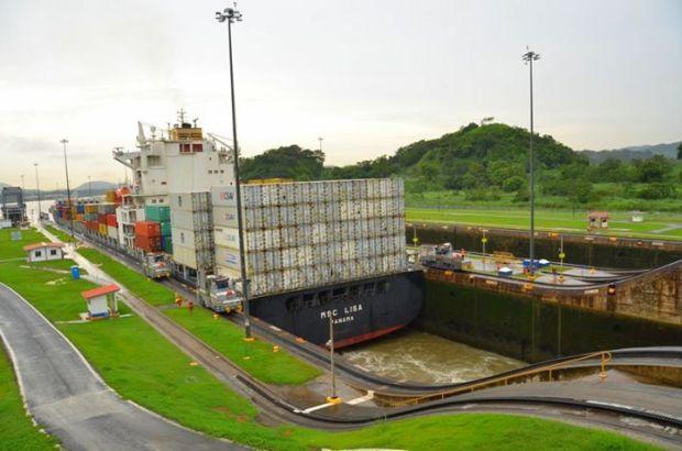 ship passing through