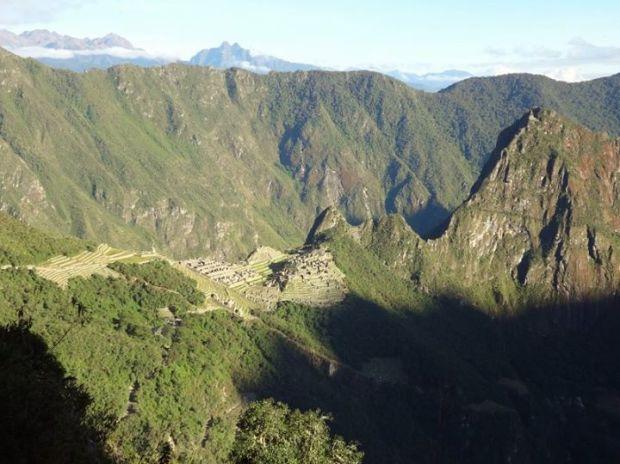 Sunrise at Machu Picchu from the Sun Gate