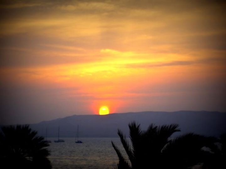 sunset over Paracas
