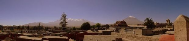 Chachami, Pichu Pichu and El Misti volcanoes of Arequipa