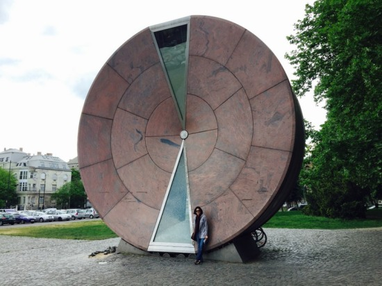 the Timewheel, world's largest hourglass.  The