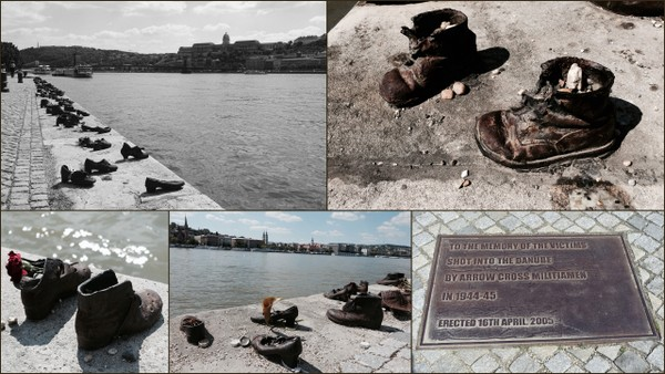 Shoes on the Danube Memorial, to remember the Hungarian Jews shot and thrown into the Danube.