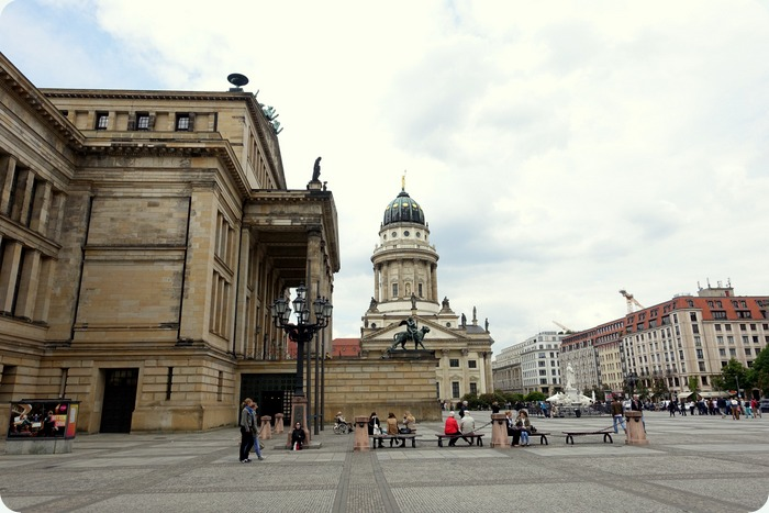 Konzerthaus (concert hall) and the French Cathedral at the Gendarmenmarkt