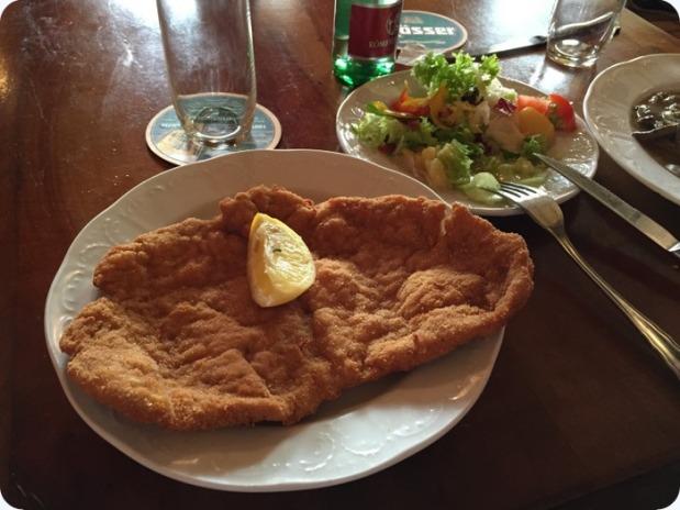 a Viennese schnitzel