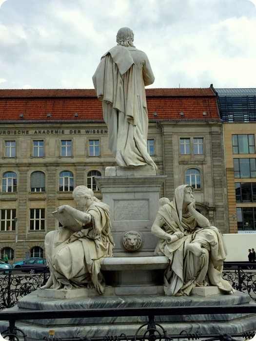 statue of Friedrich Schiller, German poet known for providing the lyrics to Beethoven's Ode to Joy