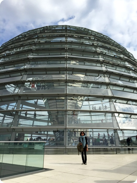 The Reichstag dome, it provides great views of the city.