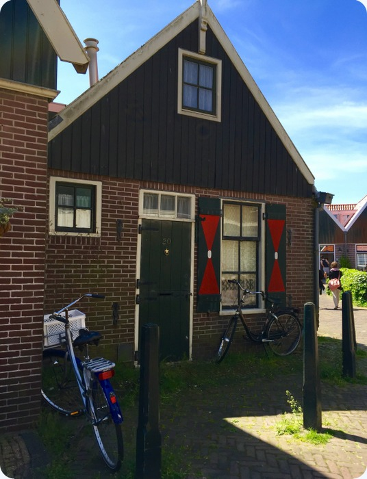 one of the residential houses at Volendam