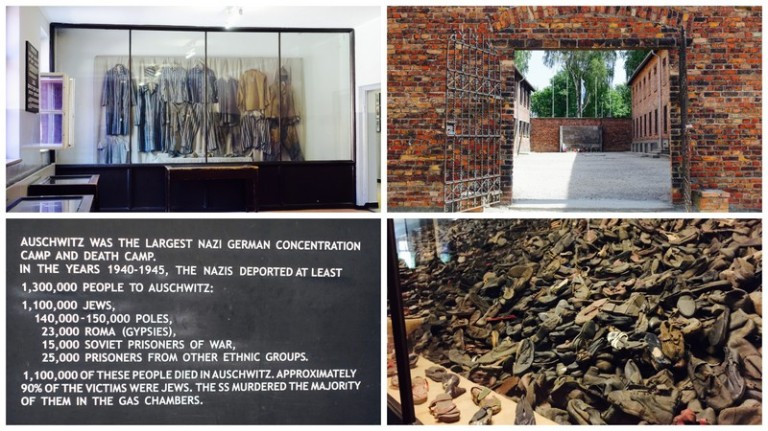 krakow auschwitz collage
