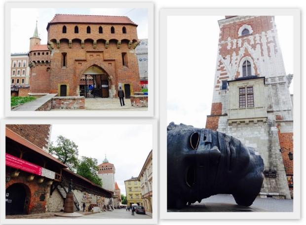 krakow square collage