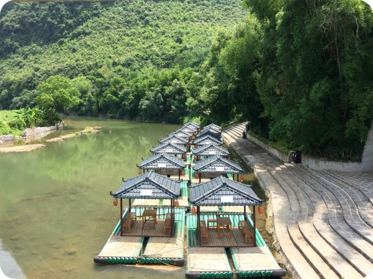 cycling along the Yulong river